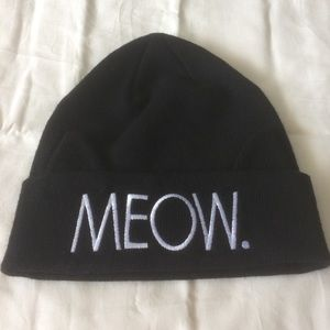 NWOT Divided H&M Black Meow beanie with cat ears